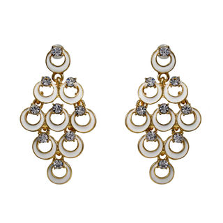 Designer White Fashion Danglers For Women