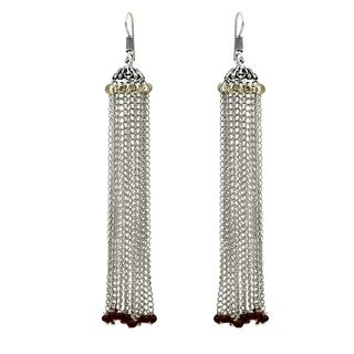 Beautiful Long Chain Earrings In German Silver For Women