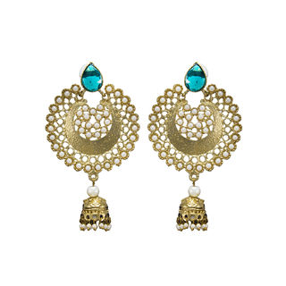 Ethnic Danglers With Jhumki Studded With Pearls For Women