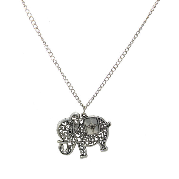 Silver Elephant Design Alloy Fashion Pendant