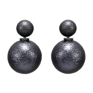Grey Reversible Fashion Studs For Girls