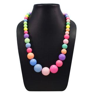 Beautiful Multi Color Balls Stretchable Fashion Necklace