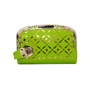 Fashion Wallet In Green And Golden For Women