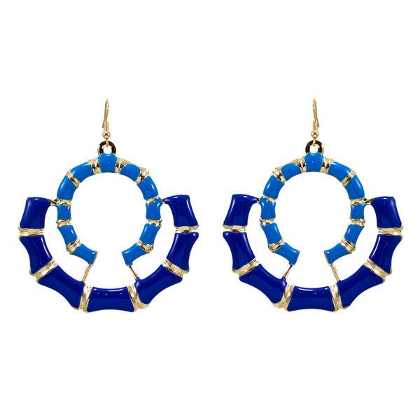 Double Round Blue Dangler For Women