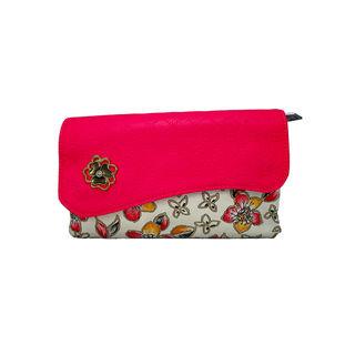Designer Printed Wallet In Pink For Women