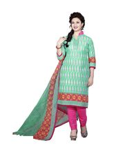 Minu Suits Cotton New Unstiched Dress Material (Sanjana9_ 9002), green