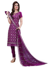 Minu Suits Cotton Purple Embroidered Ethnic Wear Suit (Shabana_ 1008)