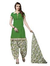 Minu Suits Cotton Unstiched Dress Material (Rangoli4_ 4003), green