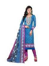 Minu Suits Cotton Printed Salwar Suits Fully Unstitched Dress Material (Lifestyle2_ 2003), blue