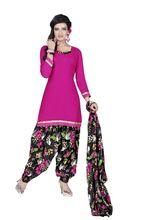 Minu Suits Cotton Unstiched Dress Material (SatinPatyala4_ 4009), pink