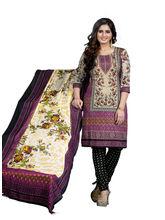 Minu Suits Casual Churidaar Kurta With Dupatta Unstitch (Rangeela_ 3004), multicolor