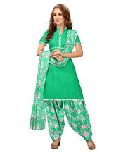 Minu Suits Cotton Green Printed Ethnic Wear Suit (Wowpatyala2_ 2005)