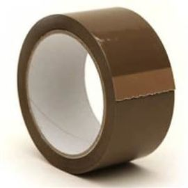 Dark Brown Cello Tape of 2 inch - Set of 6 Tape Roll, 60 meter each