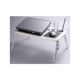 Super E-table Folding Portable Adjustable Laptop Heavy Duty with usb fan