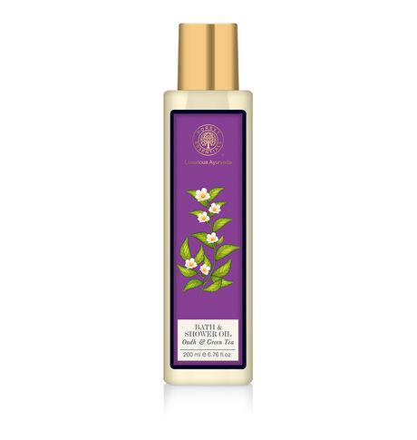 Forest Essentials Oudh & Green Tea Shower Oil