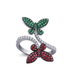 Balzo Butterfly Ring, 12, multi color