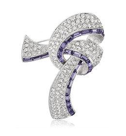 Shaze Purple Knot Brooch
