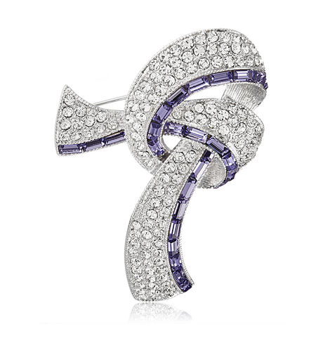 Shaze Purple Knot Brooch