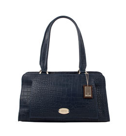 Hidesign Women Orsay Cem Croco Handbag,  midnight blue