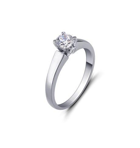 Balzo Brilliant Solitaire Ring, 12,  white