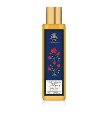 Forest Essentials Geranium Body Massage Oil