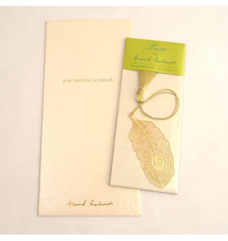 Anand Prakash Peacock Feather Bookmark
