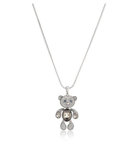 Shaze Teddy Silver E17123 Necklace
