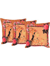Reme Cotton Embroidered Cushion Cover - Set Of 3 (RHSCC416), orange