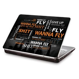 Clublaptop LSK CL 84: Laptop Quote - Wanna Fly Laptop Skin
