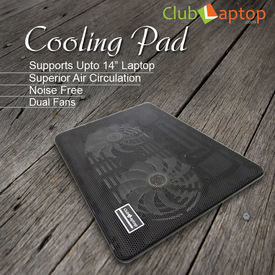 Clublaptop N10 Cooling Pad For 14  15.6  Laptops (Black)