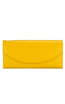 Cognac Yellow Leather Wallet