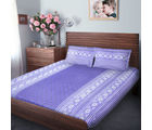 Swiss Republic Super Soft Cotton Bedsheet With 2 Pillow Covers (MF-SR-SH2919), purple