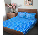 Swiss Republic Super Soft Cotton Bedsheet With 2 Pillow Covers (MF-SR-SH3003B), blue