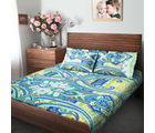 Swiss Republic Super Soft Cotton Bedsheet With 2 Pillow Covers (MF-SR-SH8179), light blue