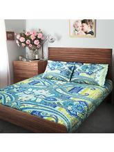 Swiss Republic Super Soft Cotton Bedsheet With 2 Pillow Covers (MF-SR-SH8179), light blue