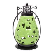 LED Hanging 14 cm x 11 cm x 20 cm Lantern - @home by Nilkamal, Green