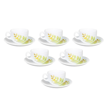 Laopala Autumn Shadow 160 ml Cup & Saucer Set of 6, Multicolor