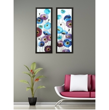 Floral Set of 2 Painting 17 cm x 47 cm - @home by Nilkamal, Sea Green