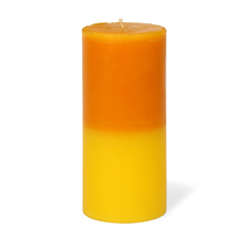 Lemon Medium Two Tone Wax Candle - @home by Nilkamal, Yellow