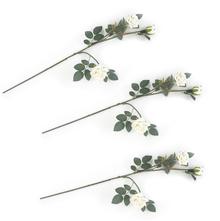 Rose Bush Flower Stick Set of 3 - @home by Nilkamal, White
