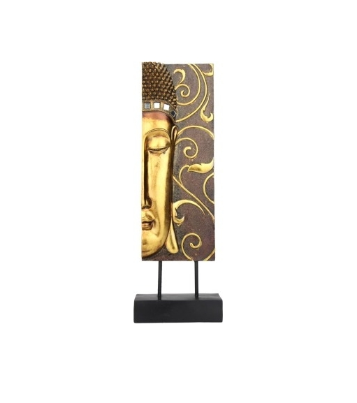 Butsu Left Face Showpiece- @home By Nilkamal, Brown