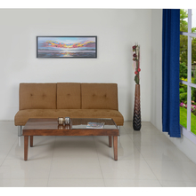 Hans Sofa cum Bed with Drop Down - @home by Nilkamal, Light Brown