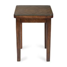 Paisley Side Table, Honey Walnut