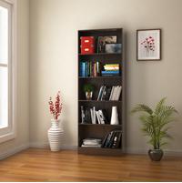 Fame 5 Tier Small Bookshelf - @home by Nilkamal, Black Oak