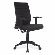 Nilkamal Thames Medium Fabric Back Office Chair, Black