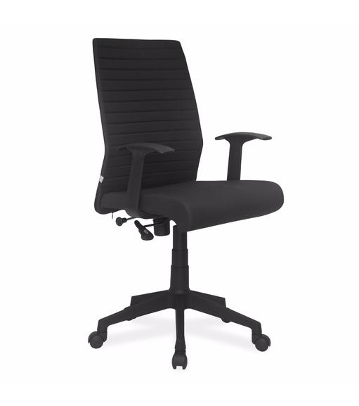 Nilkamal Thames Medium Fabric Back Office Chair, Black