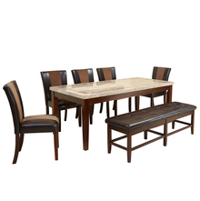 Jenn 1+ 5+ Bench Dining Set - @home by Nilkamal, Beige & Walnut