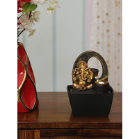 Ganesha and Pot 13 x 12 x 18 cm Water Fountain, Gold