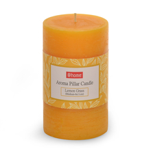 Lemon Medium Pillar Candle - @home by Nilkamal, Yellow