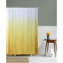 Gradation 180 cm x 200 cm Shower Curtain - @home by Nilkamal, Yellow